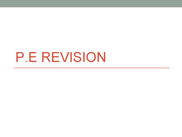 Preview of Complete GCSE P.E notes