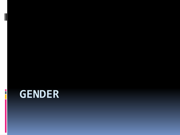 Preview of Complete Gender Presentation