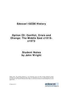 Preview of Complete notes on Edexcel History, section C5 (Arab-Israeli conflict)