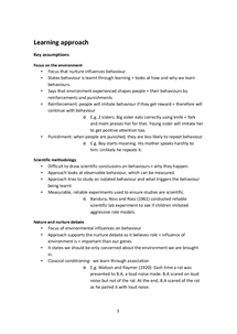 Preview of Complete notes on Learning approach