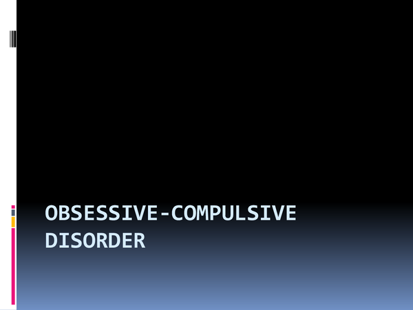 Preview of Complete OCD presentation