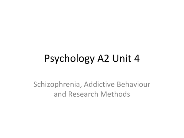 Preview of Complete overview of A2 unit 4 Psychology