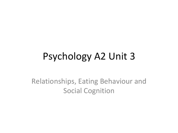 Preview of Complete overview of unit 3 Psychology