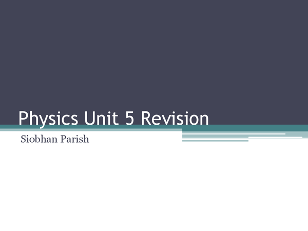 Preview of Complete PHYA5 revision powerpoint AQA Physics A A2
