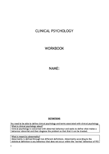 Preview of COMPLETE REVISION NOTES FOR CLINICAL PSYCHOLOGY A2 (UNIT 4)