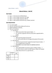 Preview of Complete revision notes for edexcel unit 3c (history A)