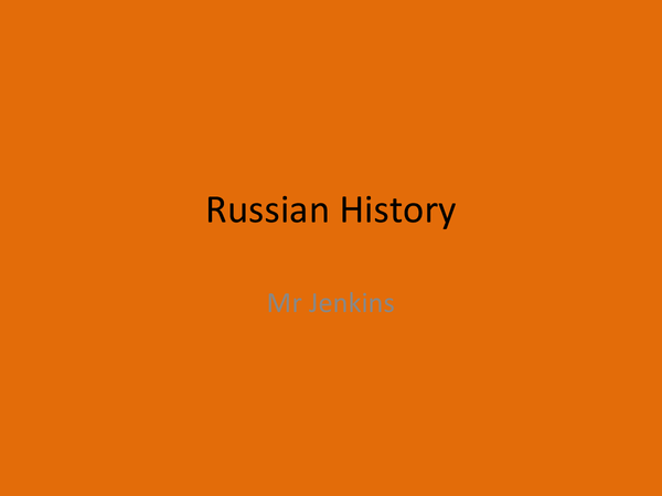 Preview of Complete Russian History - 1881 until 1953