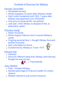 Preview of Complete Wolsey Notes