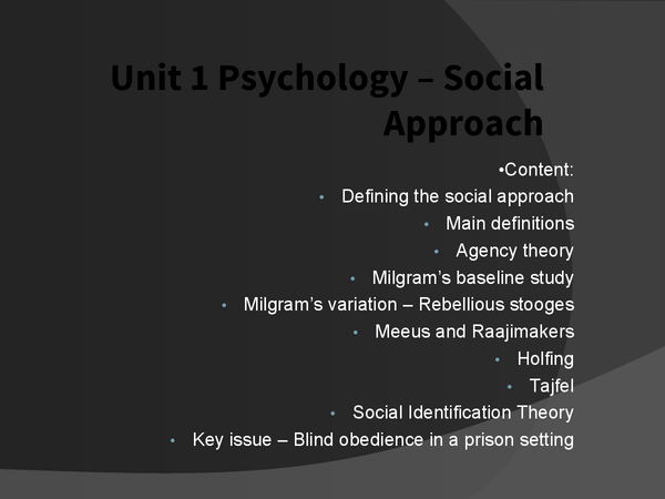Preview of Completed Social Approach Notes