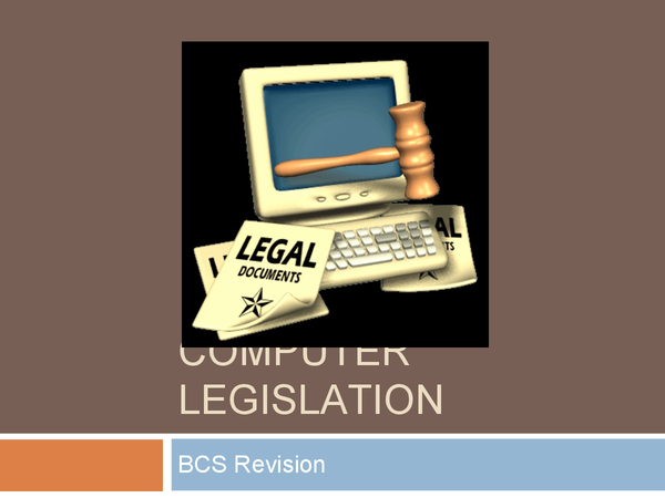 Preview of Computer legislations