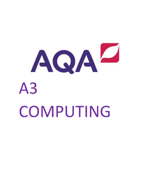 Preview of AQA COMPUTING COMP3 Revision