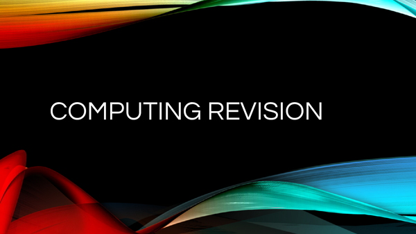 Preview of Computing Network and Software Revision