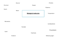 Preview of Concept map for biological molecules
