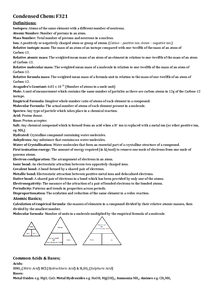 Preview of Condensed Chemistry - F321 THE IMPORTANT BITS