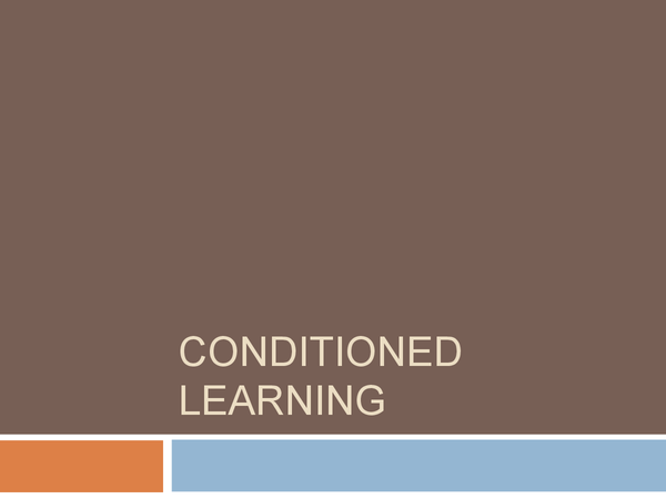 Preview of Conditioned Learning- 'Attack of the Quack'