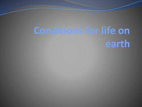 Preview of conditions for life on earth.
