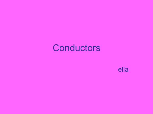 Preview of Conductors and semiconductors