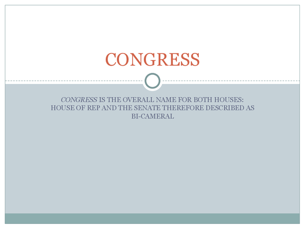 Preview of Congress