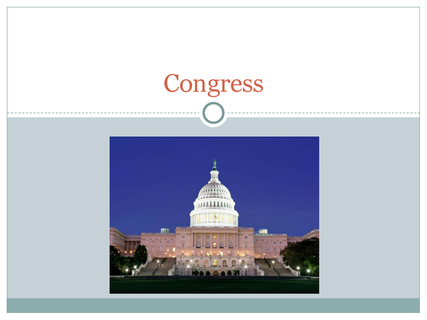 Preview of Congress: Governing the USA