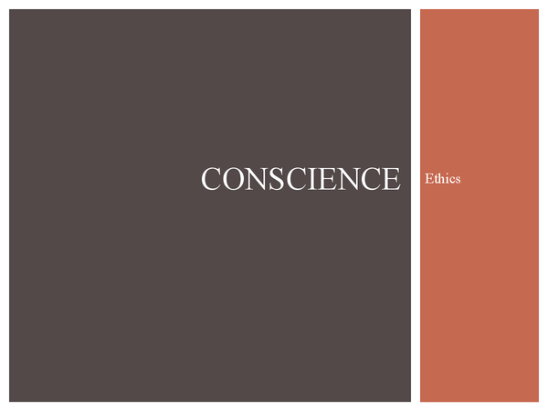 Preview of Conscience