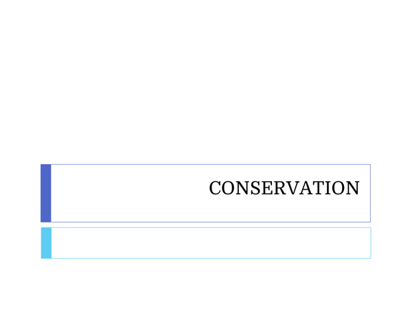Preview of Conservation approach to energy