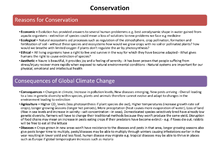 Preview of Conservation, Co-operation EIA Notes - OCR AS Biology Unit 2