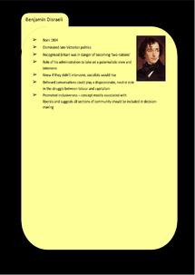 Preview of Conservatism Key Profile: Benjamin Disraeli