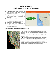 Preview of Conservative Plate Boundaries