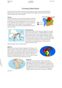 Preview of Continental Drift Theory