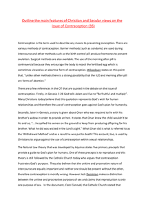 Preview of Contraception (essay)