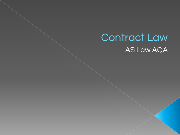 Preview of Contract Law Part 1