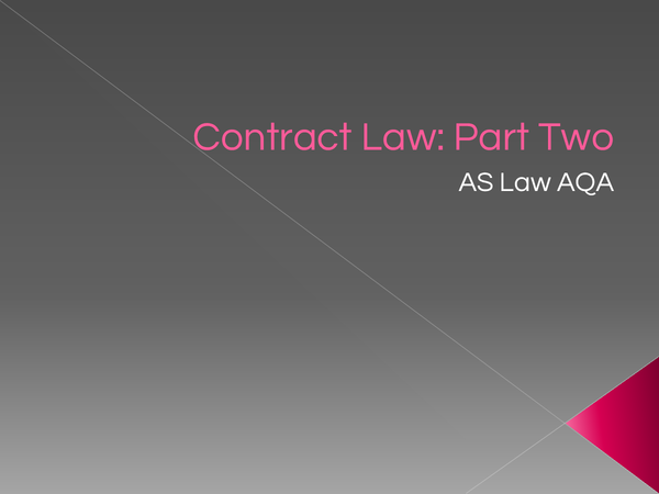 Preview of Contract Law Part 2