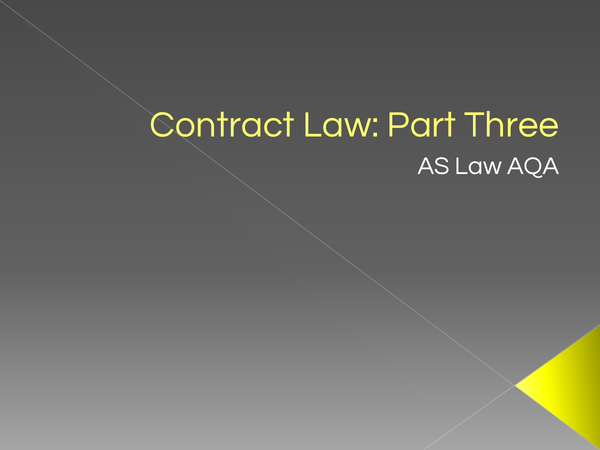 Preview of Contract Law Part 3