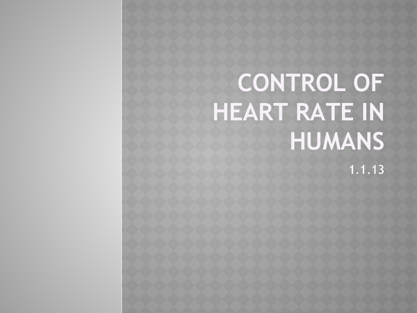 Preview of Control of Heart rate in Humans