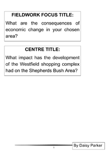 Preview of controlled assessment - Shepherds Bush