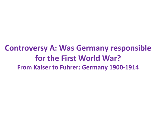 Preview of German responsibility for WWI