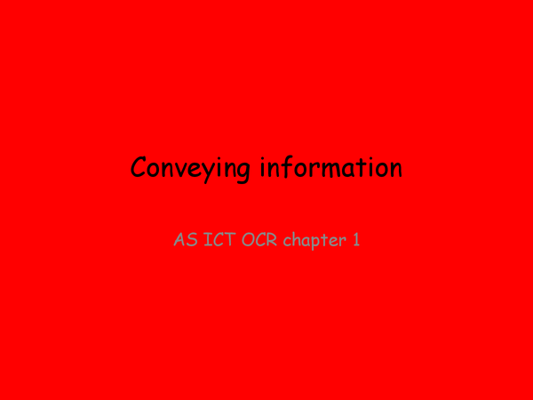 Preview of conveying information