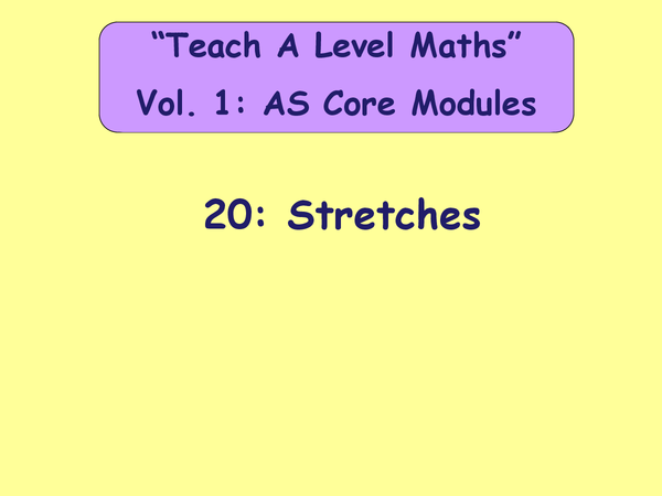 Preview of CORE 1 Maths - Stretching Graphs