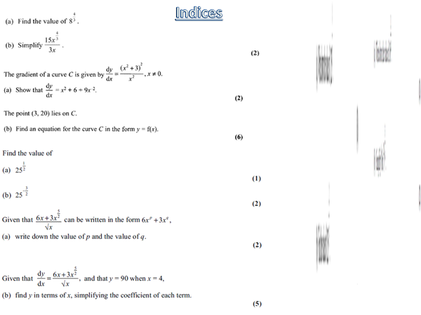 Preview of Core maths practice questions for all the topics