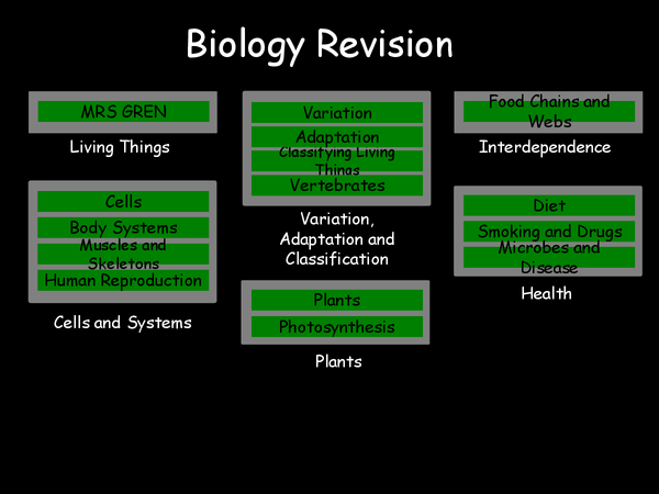 Preview of core science biology revision