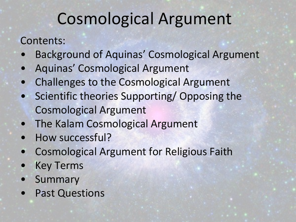 Preview of Cosmological Argument, AQA, AS