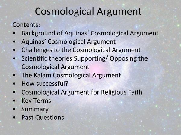 explain aquinas cosmological argument essay