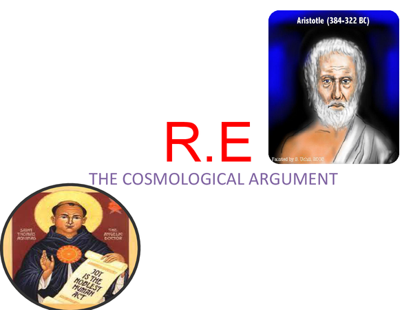 Preview of Cosmological Argument - religious studies