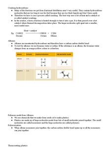 Preview of Cracking Hydrocarbons - AQA GCSE Chemistry Core