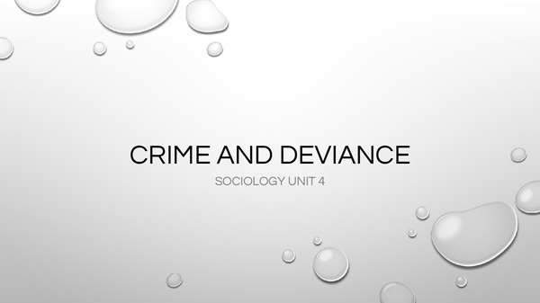 Preview of Crime and Deviance