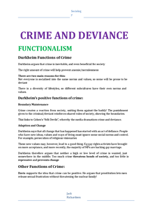 Preview of Crime and Deviance Revision Booklet