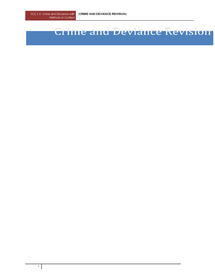 Preview of Crime and Deviance Revision Guide