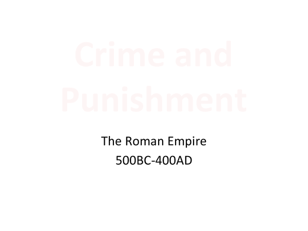 Preview of Crime and Punishment Through Time (Full Course)