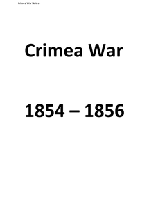 Preview of Crimean War Notes