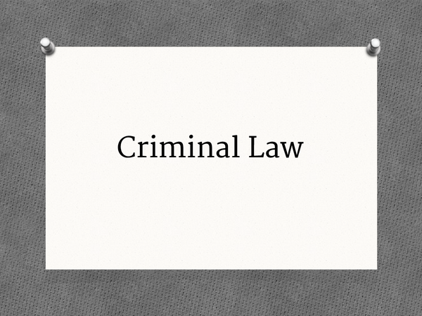 Preview of Criminal Law